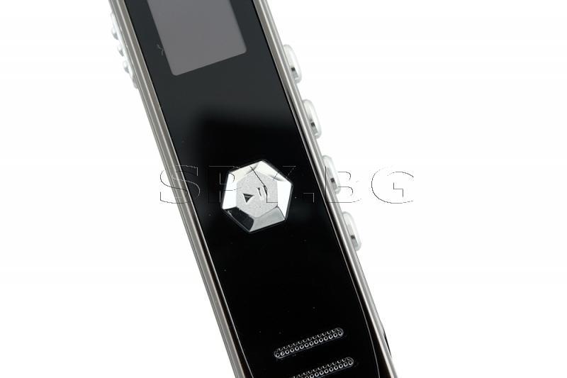 Стерео диктофон 8GB, Запис MP3/WAV, Време на запис до 12 часа