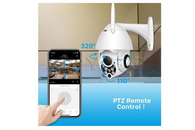 Подвижна IP камера за външен монтаж