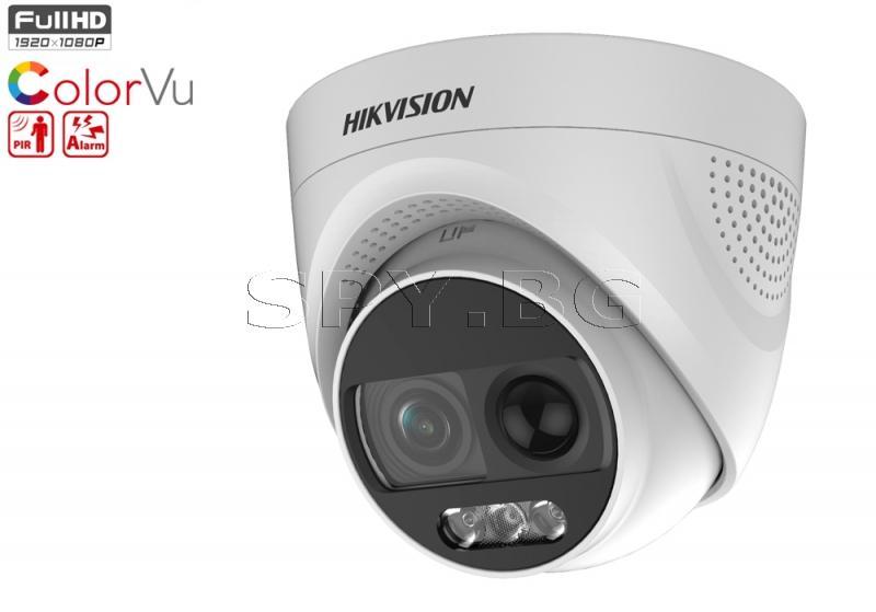 HD-TVI куполна камера 2MP с ColorVu технология - HIKVISION