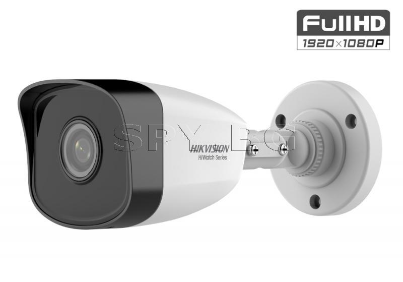 2MP корпусна IP камера с вградено IR осветление до 30м - HIKVISION
