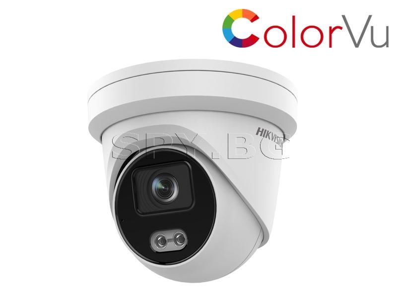4MP куполна IP камера с ColorVu технология - HIKVISION