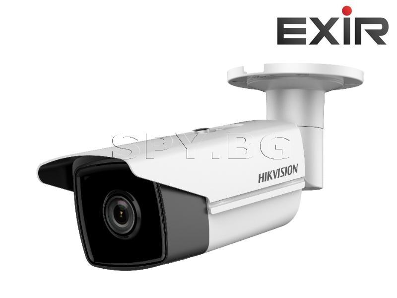 6MP корпусна IP камера Ден/Нощ, EXIR технология с обхват до 80м - HIKVISION