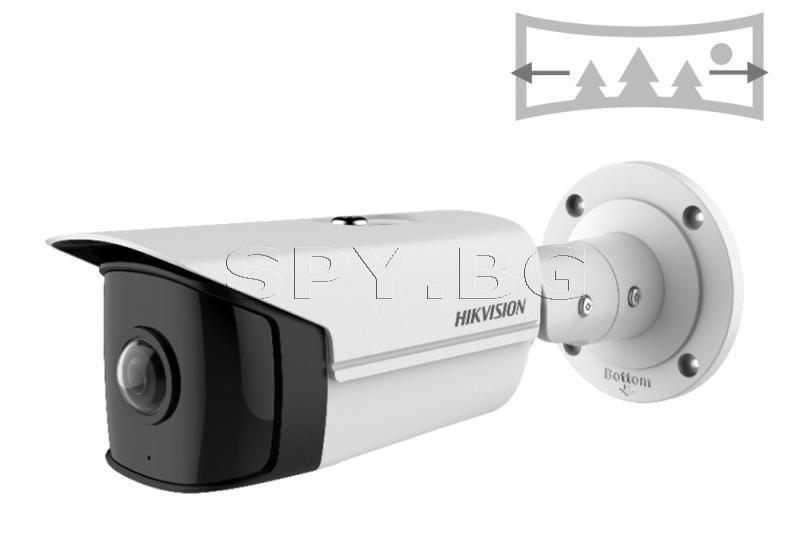 4MP Широкоъгълна панорамна корпусна IP камера - HIKVISION
