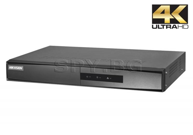 4-канален NVR рекордер/сървър до 8 MP - HIKVISION