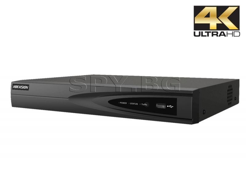 8-канален 4K мрежов рекордер/сървър - HIKVISION