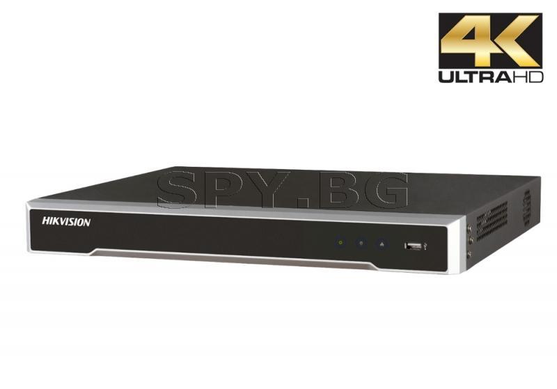 4K 8-канален мрежов рекордер/сървър до 8 IP камери - HIKVISION