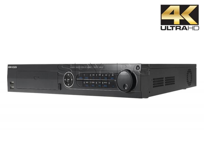 16-канален мрежов рекордер/сървър; поддържа 16 IP камери HIKVISION
