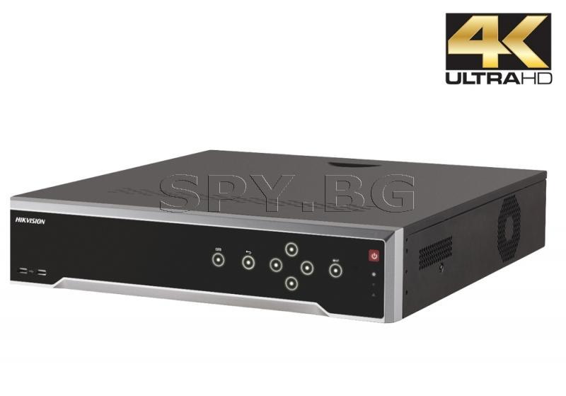 8MP 32-канален мрежов рекордер/сървър - HIKVISION