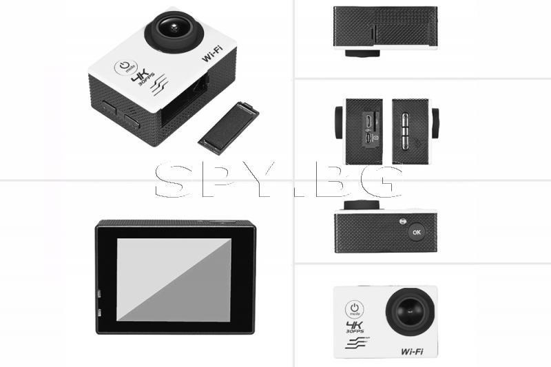 Спортна Wi-Fi камера 4к 30fps с дистанционно