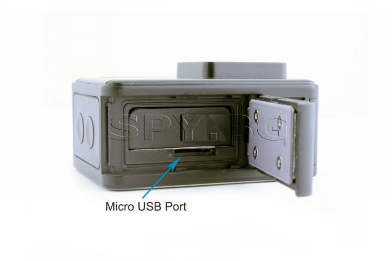 Спортна 4к 60 fps Wi-Fi камера с два дисплея