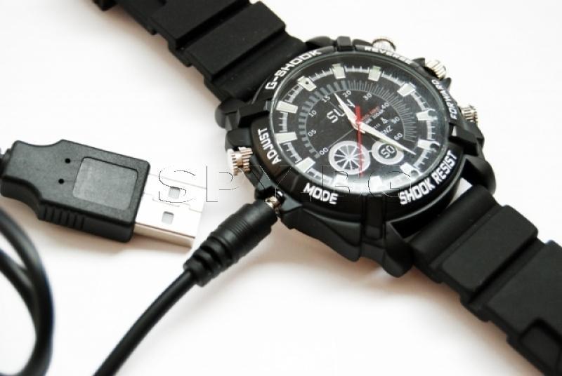Водоустойчив часовник с Full HD камера 4GB